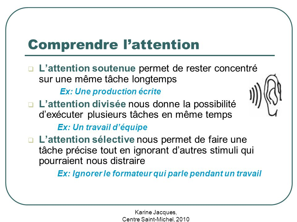 Comprendre l'attention