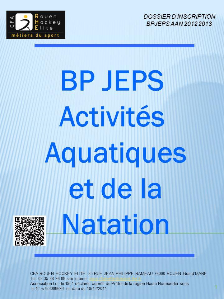 BP JEPS Activités Aquatiques et de la Natation