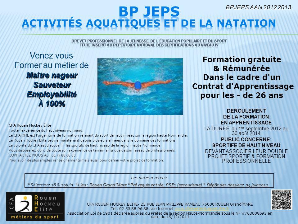 activit u00e9s aquatiques et de la natation contrat d