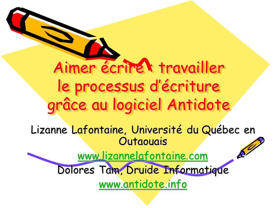 Aimer écrire : travailler le processus d'écriture grâce au logiciel Antidote