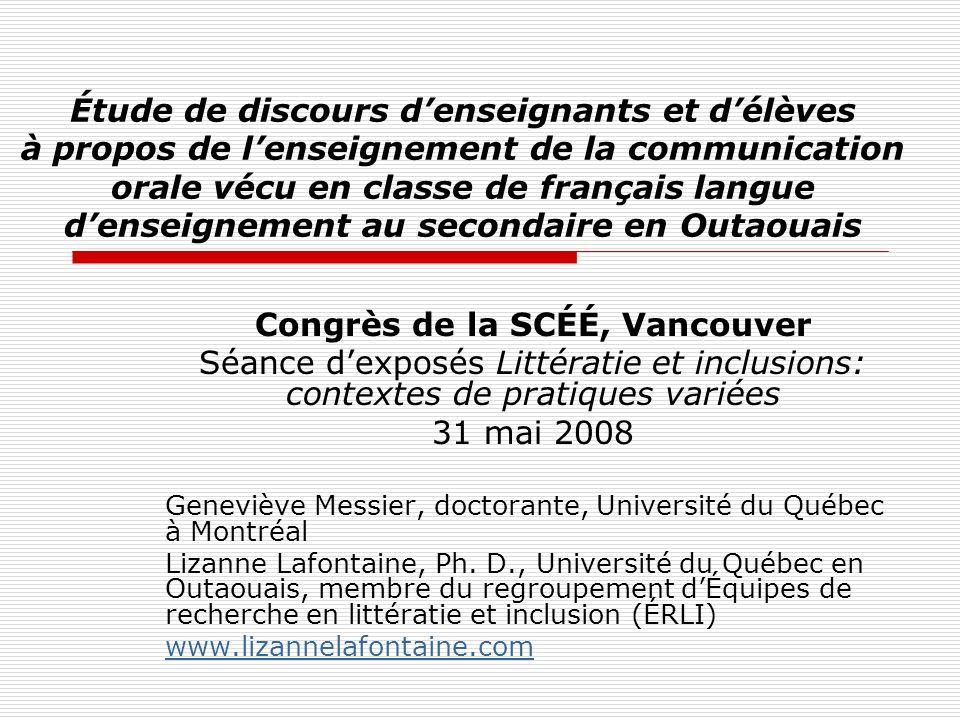Congrès de la SCÉÉ, Vancouver