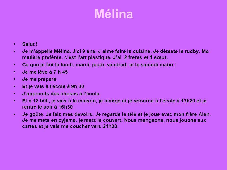 Mélina Salut !