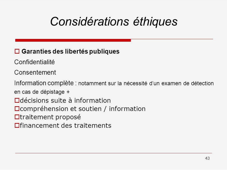 Considérations éthiques