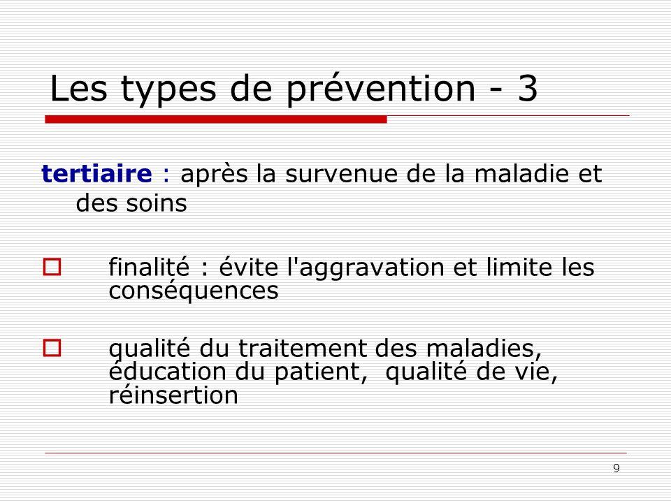 Les types de prévention - 3