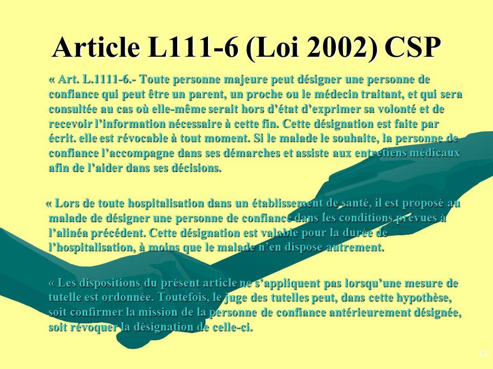 Article L111-6 (Loi 2002) CSP