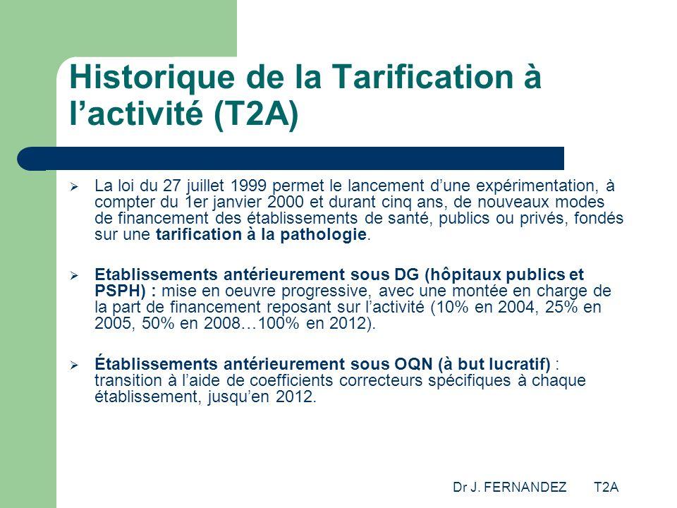 Historique de la Tarification à l'activité (T2A)