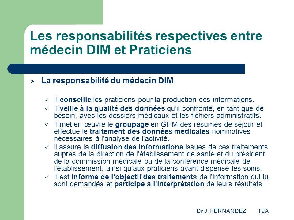 Les responsabilités respectives entre médecin DIM et Praticiens