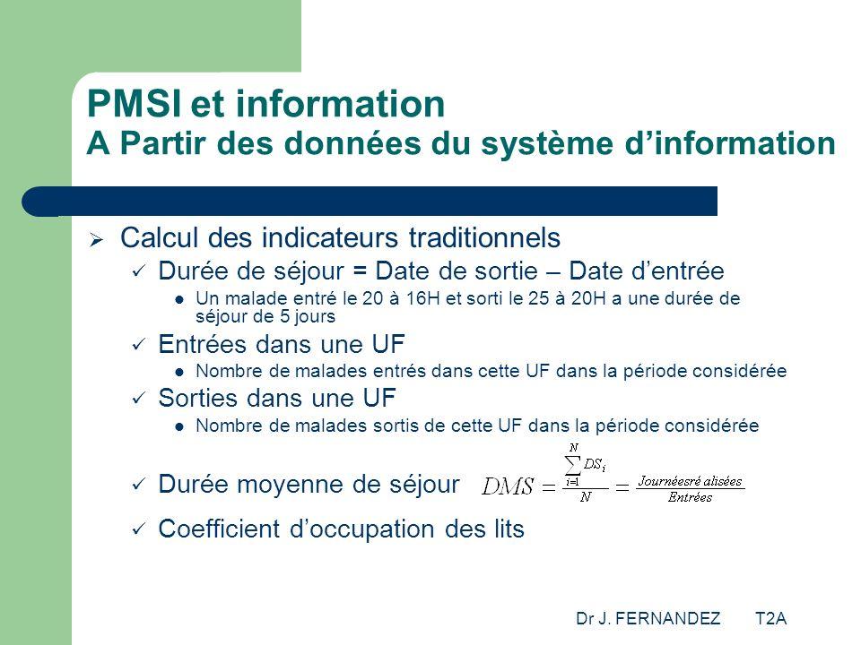 PMSI et information A Partir des données du système d'information