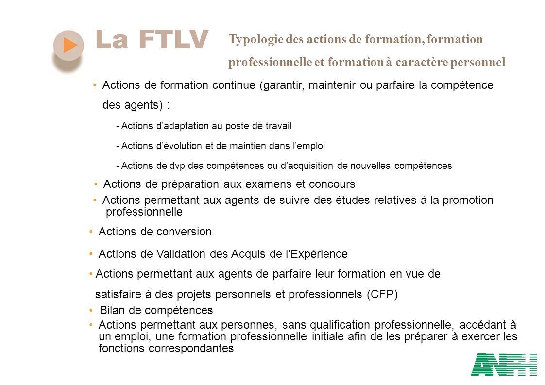 La FTLV Typologie des actions de formation, formation