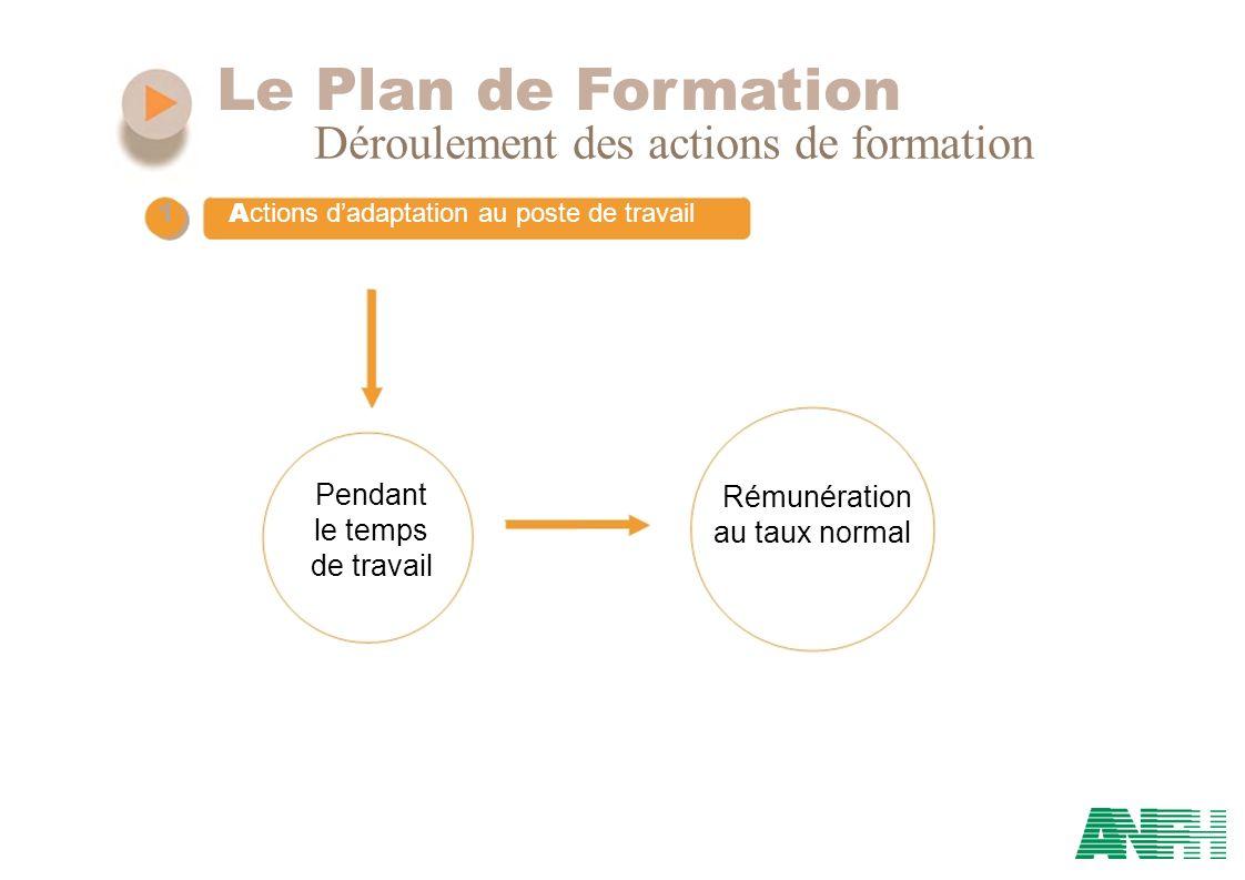 Le Plan de Formation Déroulement des actions de formation Pendant