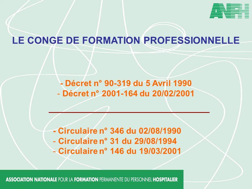 LE CONGE DE FORMATION PROFESSIONNELLE