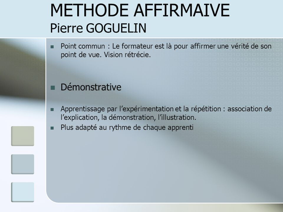 METHODE AFFIRMAIVE Pierre GOGUELIN