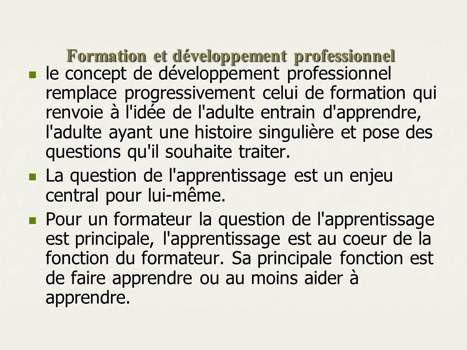 Formation et développement professionnel