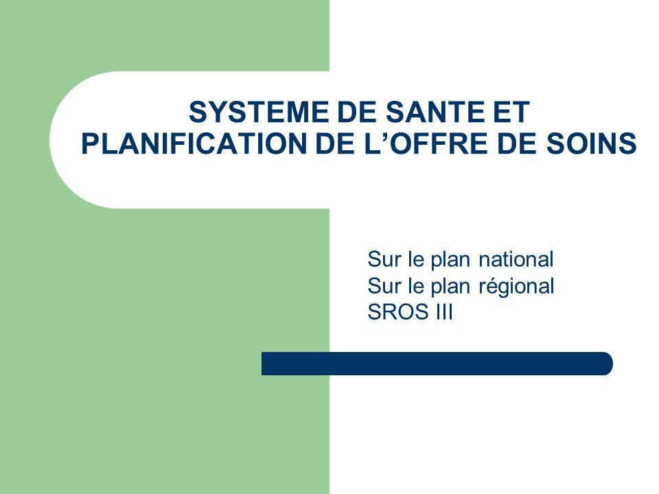 SYSTEME DE SANTE ET PLANIFICATION DE L'OFFRE DE SOINS