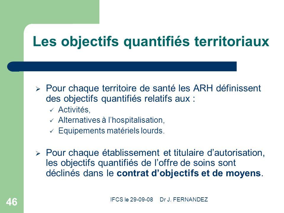 Les objectifs quantifiés territoriaux