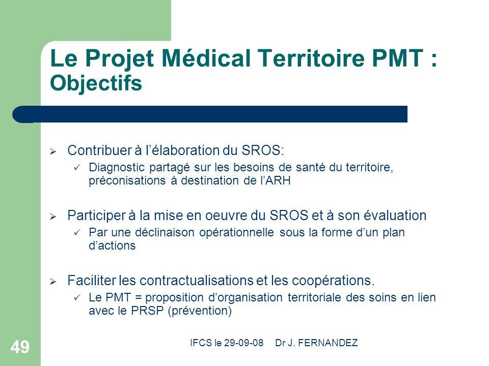 Le Projet Médical Territoire PMT : Objectifs
