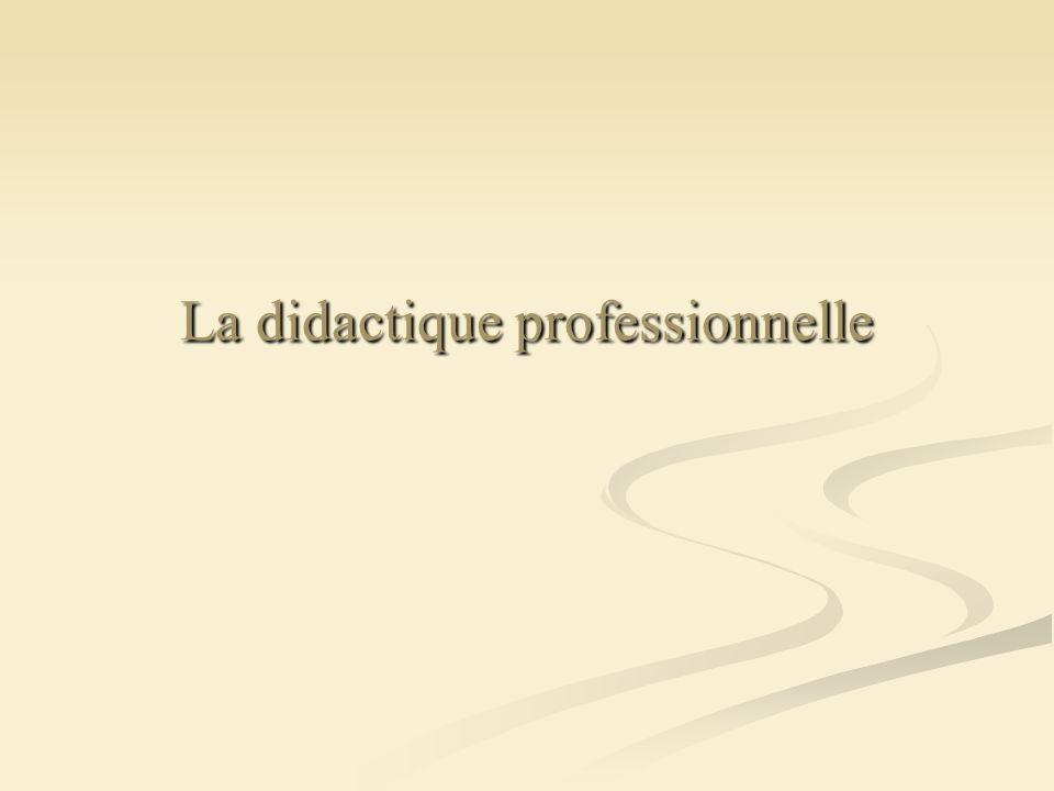 La didactique professionnelle