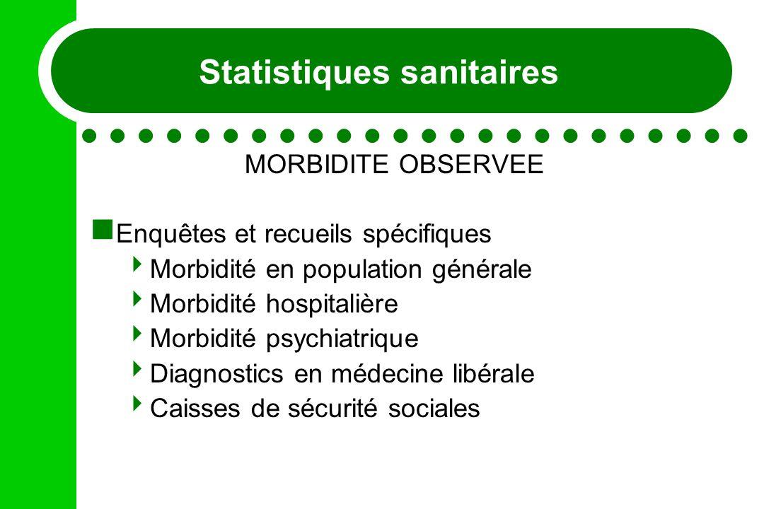 Statistiques sanitaires