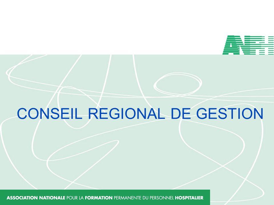 CONSEIL REGIONAL DE GESTION