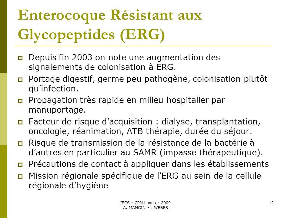 Enterocoque Résistant aux Glycopeptides (ERG)