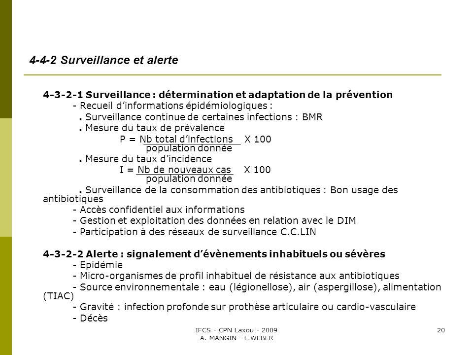 4-4-2 Surveillance et alerte