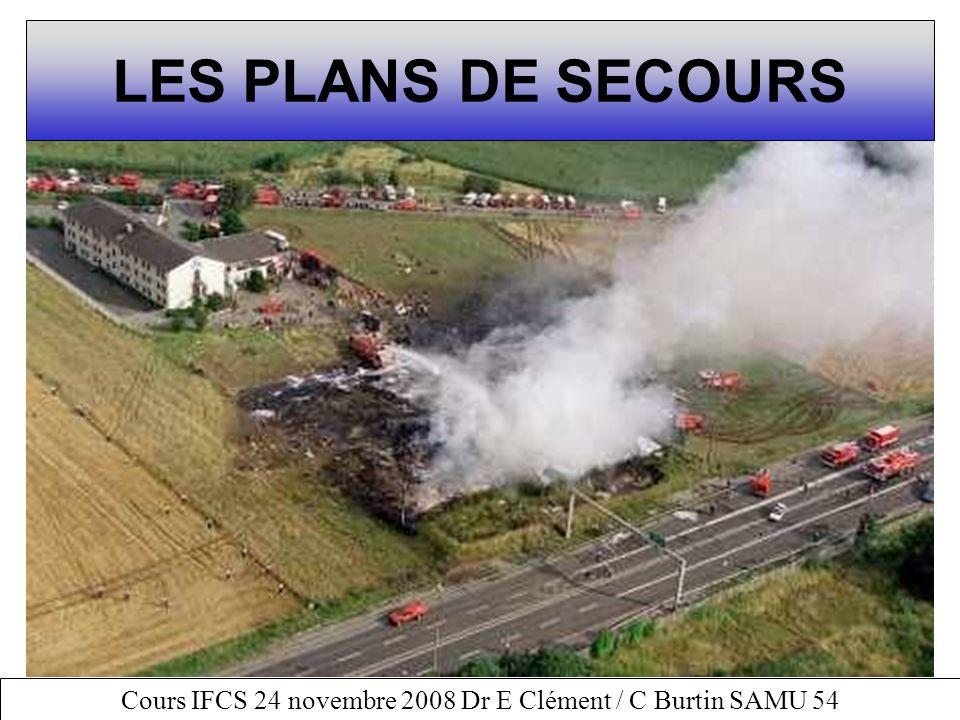 Cours IFCS 24 novembre 2008 Dr E Clément / C Burtin SAMU 54