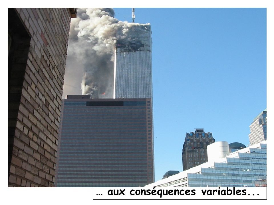 … aux conséquences variables...