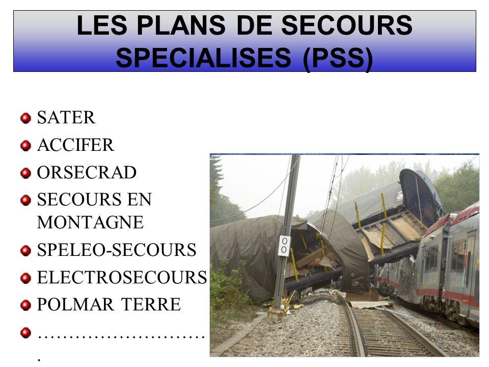 LES PLANS DE SECOURS SPECIALISES (PSS)