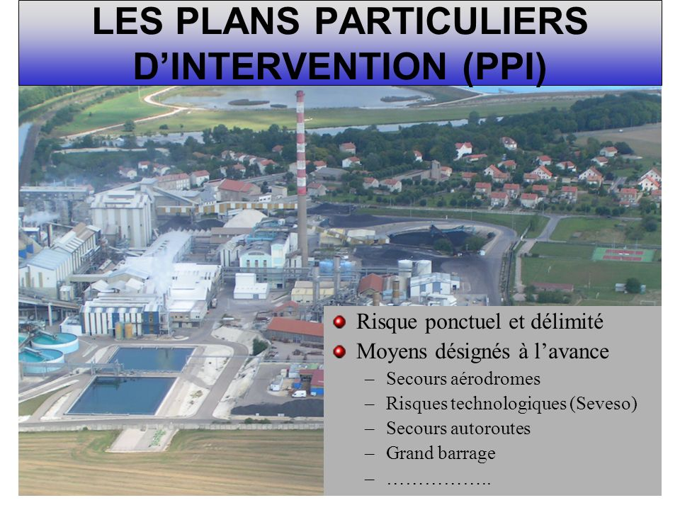 LES PLANS PARTICULIERS D'INTERVENTION (PPI)