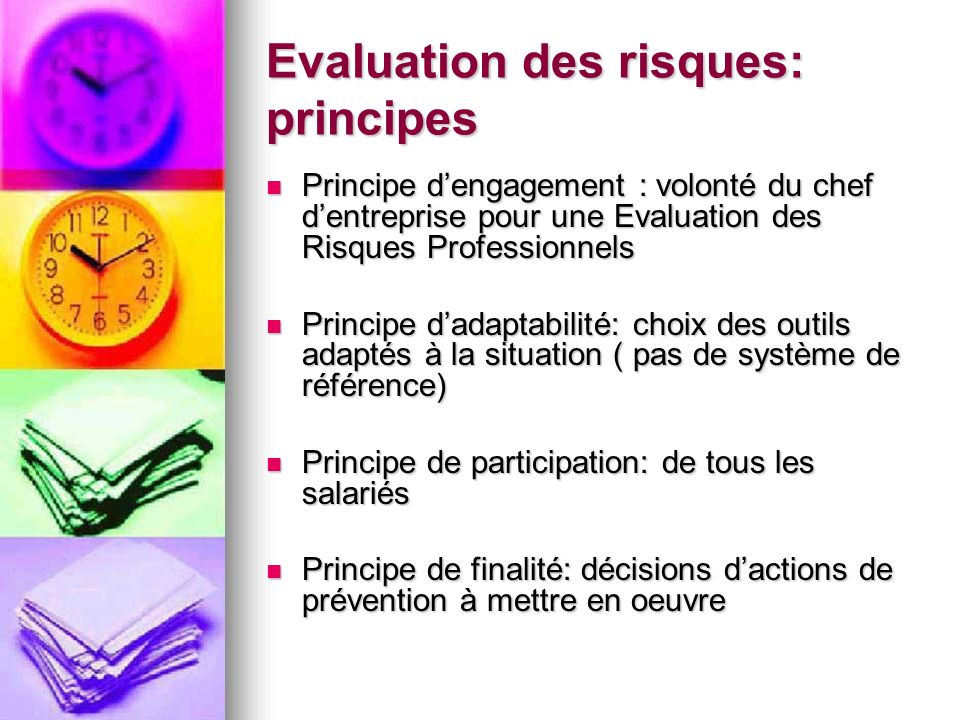 Evaluation des risques: principes