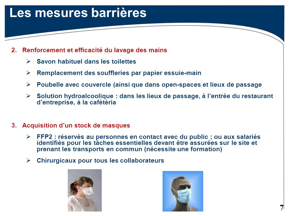 Les mesures barrières 2. Renforcement et efficacité du lavage des mains. Savon habituel dans les toilettes.
