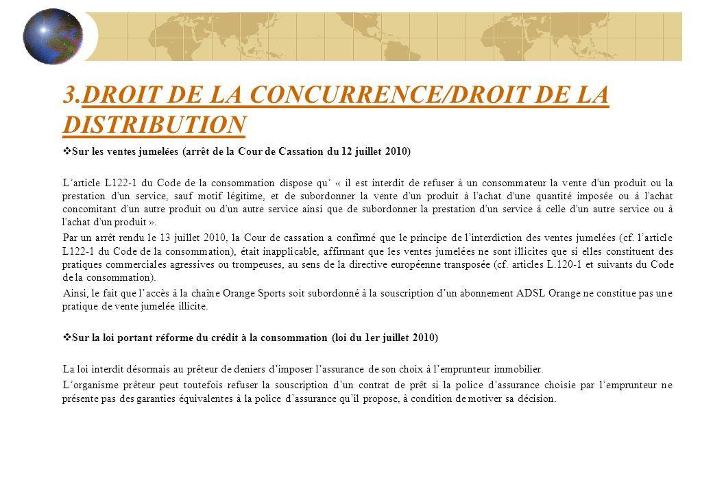 3.DROIT DE LA CONCURRENCE/DROIT DE LA DISTRIBUTION