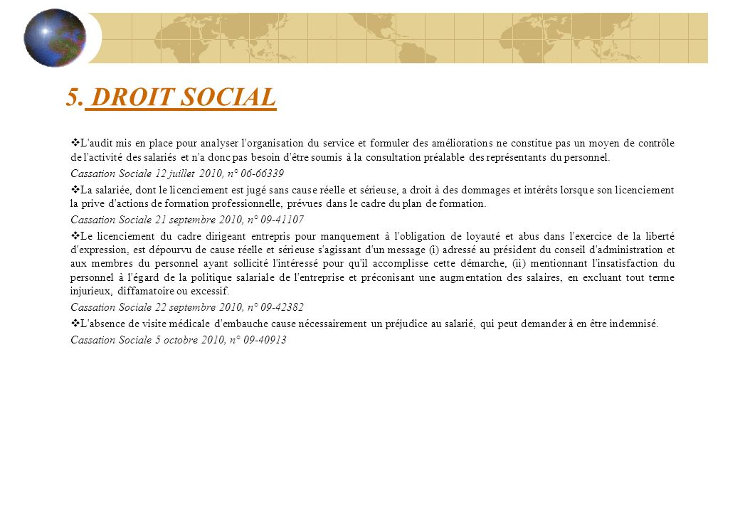 5. DROIT SOCIAL