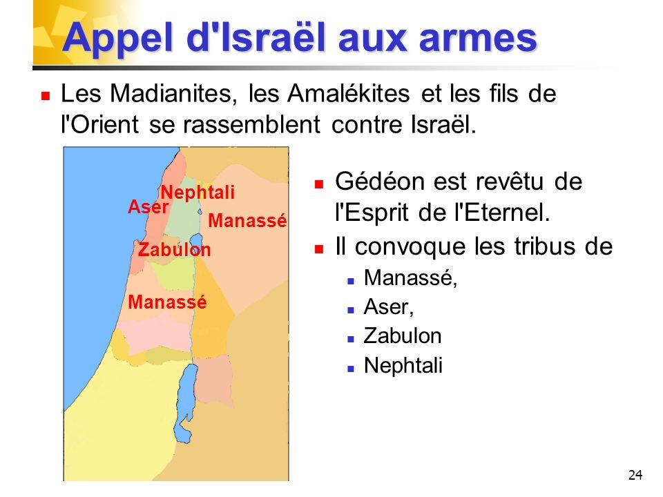 Appel d Israël aux armes