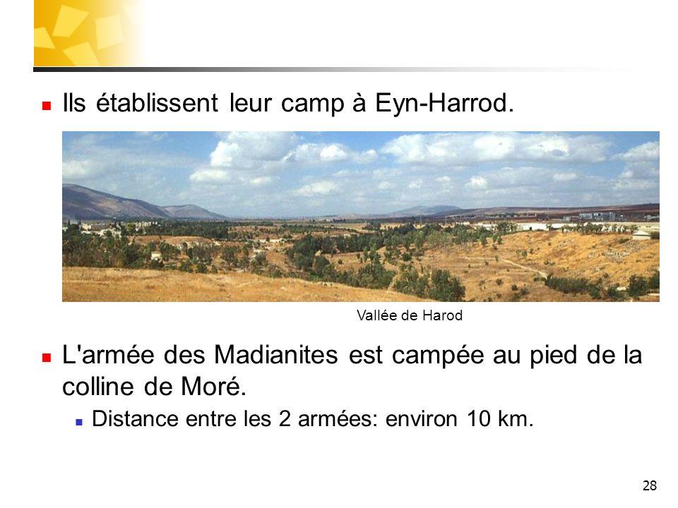 Ils établissent leur camp à Eyn-Harrod.