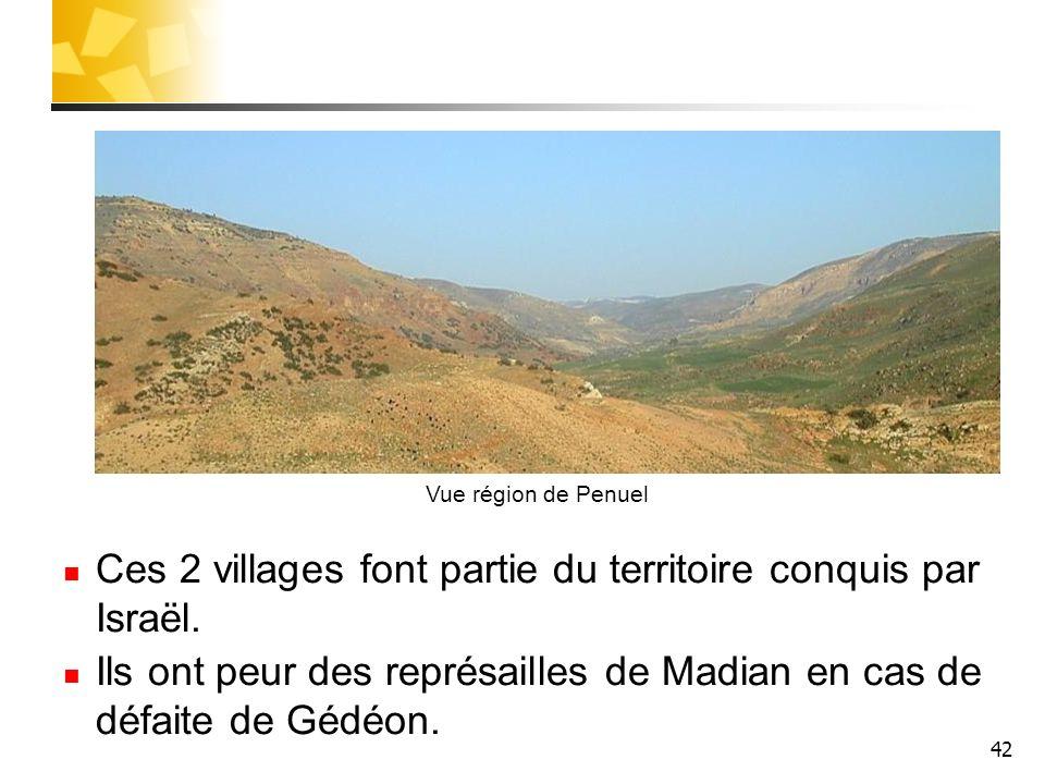 Ces 2 villages font partie du territoire conquis par Israël.