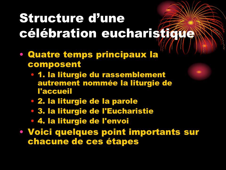 Structure d'une célébration eucharistique