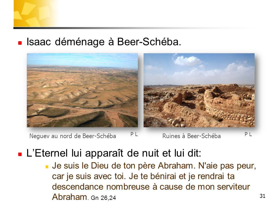 Isaac déménage à Beer-Schéba.