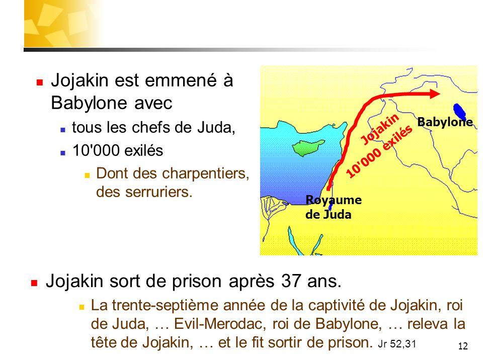 Jojakin est emmené à Babylone avec