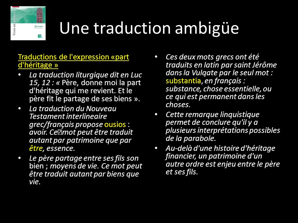 Une traduction ambigüe