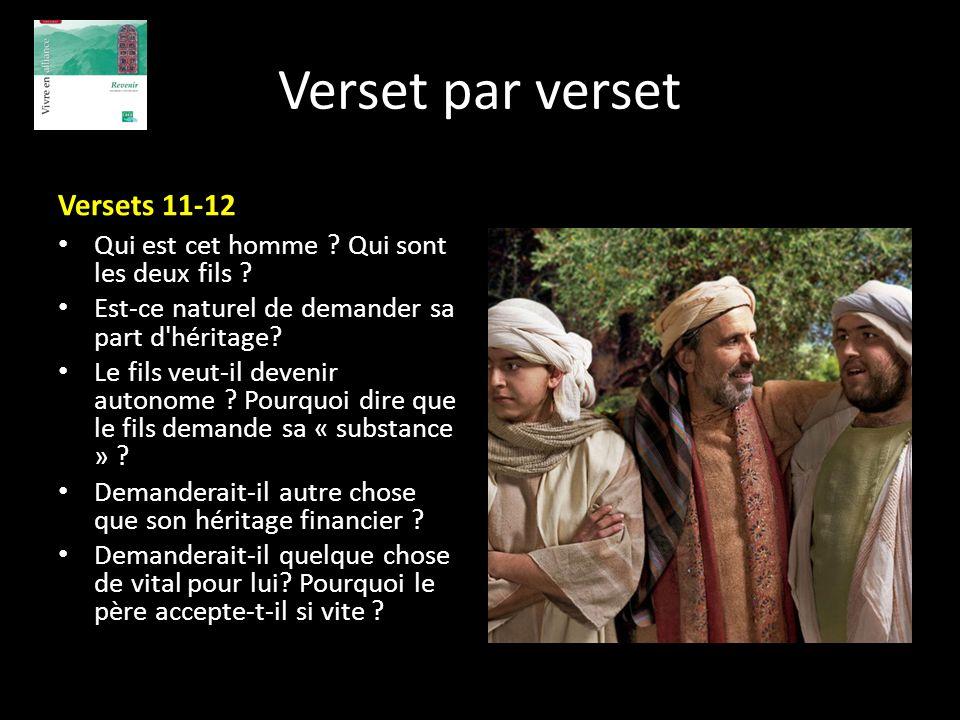 Verset par verset Versets 11-12
