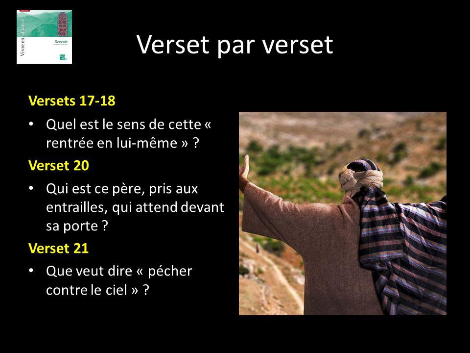 Verset par verset Versets 17-18