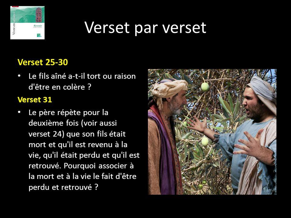 Verset par verset Verset 25-30