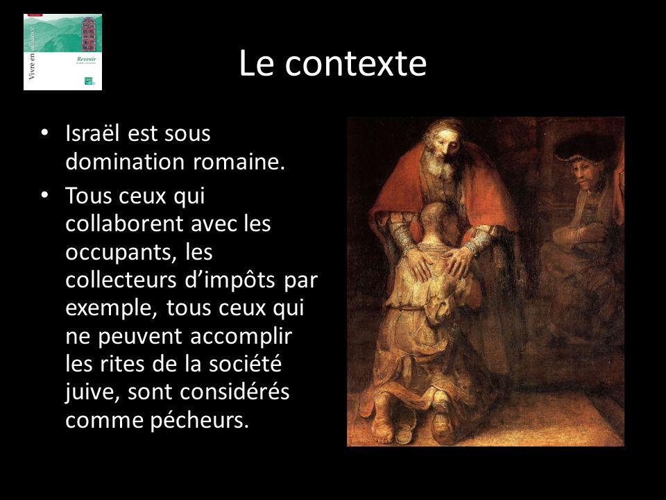 Le contexte Israël est sous domination romaine.