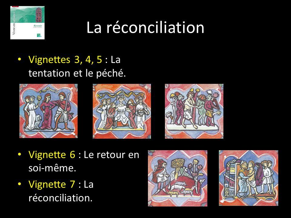 La réconciliation Vignettes 3, 4, 5 : La tentation et le péché.