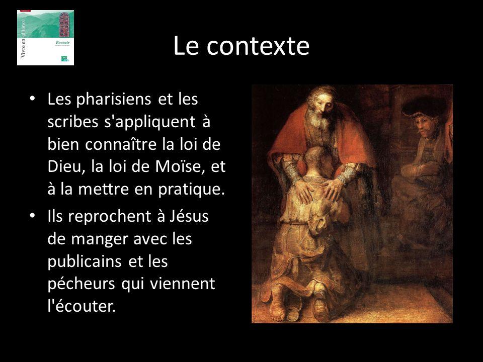 Le contexte Les pharisiens et les scribes s appliquent à bien connaître la loi de Dieu, la loi de Moïse, et à la mettre en pratique.