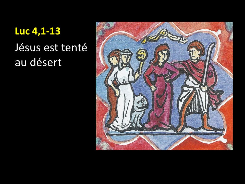 Jésus est tenté au désert