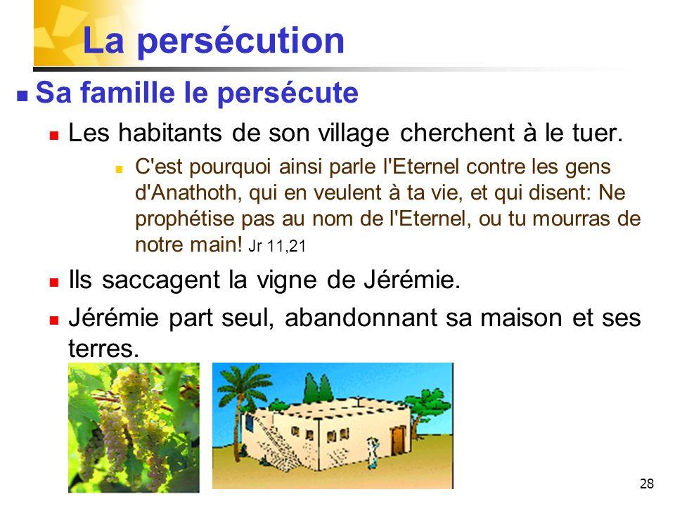La persécution Sa famille le persécute