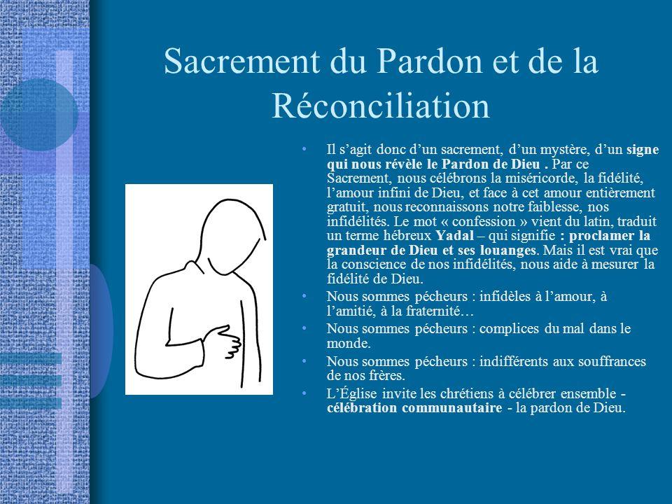 Sacrement du Pardon et de la Réconciliation