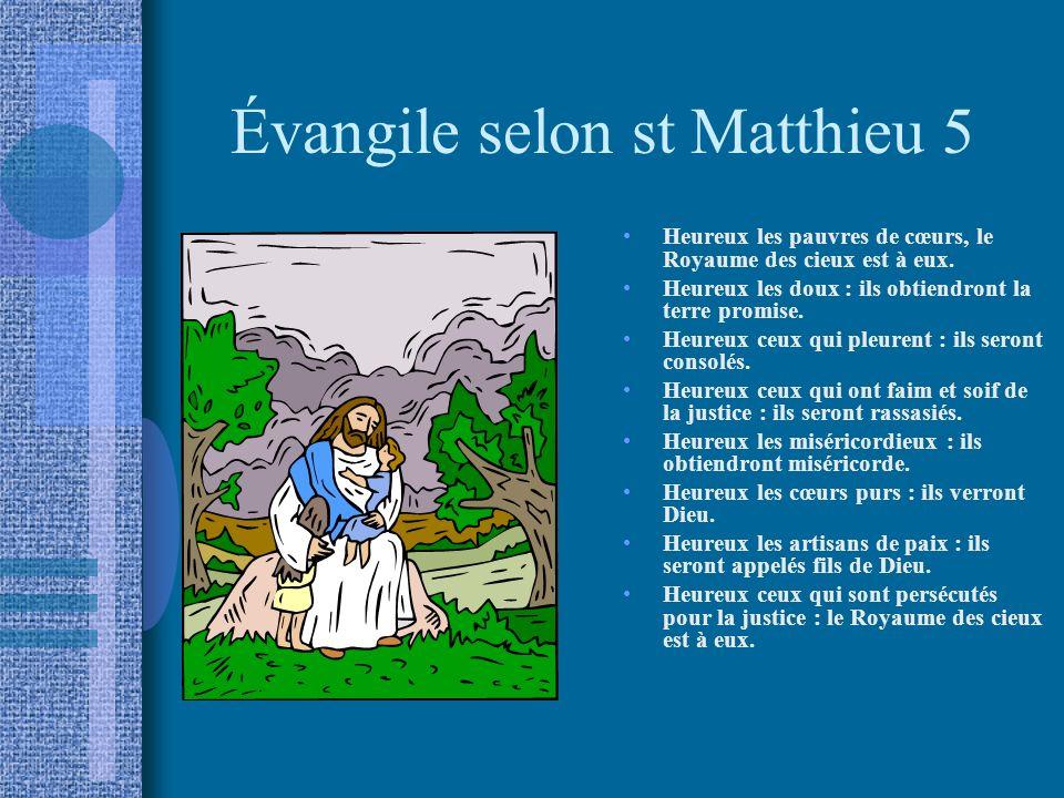 Évangile selon st Matthieu 5